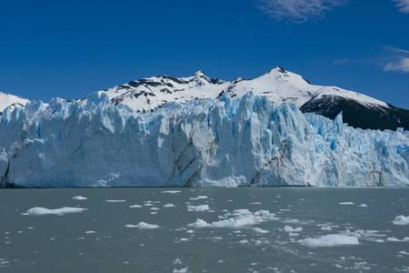 View of one of the fronts of the glacier Perito Moreno in the Los Glaciares National Park of  Patagonia, facing on the Lake Argentino Stock Photo - 17476685