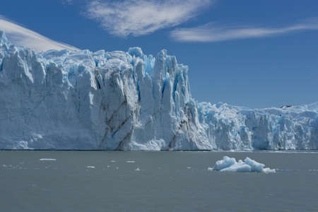 View of one of the fronts of the glacier Perito Moreno in the Los Glaciares National Park of  Patagonia, facing on the Lake Argentino photo