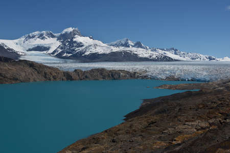Panoramic viewpoint over Upsala Glacier and Lake Argentino, near Estancia Cristina in Patagonia photo
