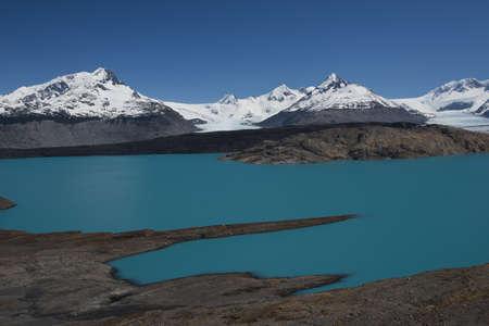 el calafate: Panoramic viewpoint over Upsala Glacier and Lake Argentino, near Estancia Cristina in Patagonia
