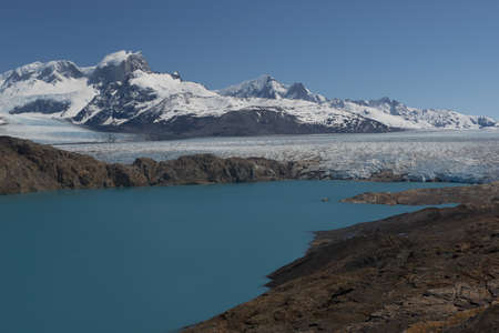 upsala: Panoramic viewpoint over Upsala Glacier and Lake Argentino, near Estancia Cristina in Patagonia