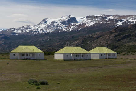 los glaciares: the estancia cristina on the Lake Argentino, near the upsala glacier, in los glaciares national park of patagonia argentina