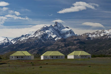 upsala: the estancia cristina on the Lake Argentino, near the upsala glacier, in los glaciares national park of patagonia argentina