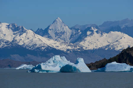Spectacular blue iceberg floating on the Lake Argentino in the Los Glaciares National Park, Patagonia, Argentina. Stock Photo - 17710343