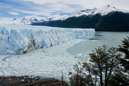 View of one of the fronts of the glacier Perito Moreno in the Los Glaciares National Park of  Patagonia, facing on the Lake Argentino Stock Photo