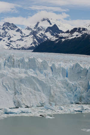 View of one of the fronts of the glacier Perito Moreno in the Los Glaciares National Park of  Patagonia, facing on the Lake Argentino Stock Photo - 17710381