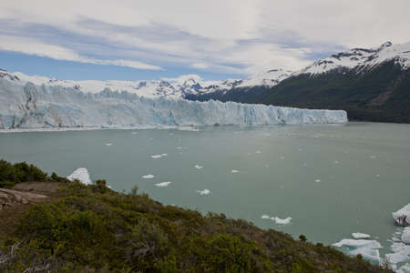 View of one of the fronts of the glacier Perito Moreno in the Los Glaciares National Park of  Patagonia, facing on the Lake Argentino Stock Photo - 17710549