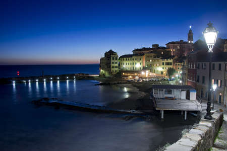 Typical fishing village of Bogliasco on the mediterranean sea. A picturesque town of the italian riviera. Stock Photo - 17710437