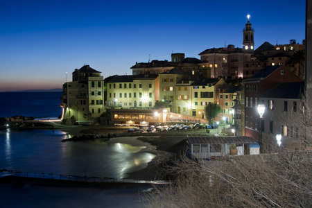 Typical fishing village of Bogliasco on the mediterranean sea. A picturesque town of the italian riviera. Stock Photo - 17710434