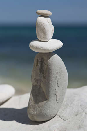 Stack of  stones on a beach
