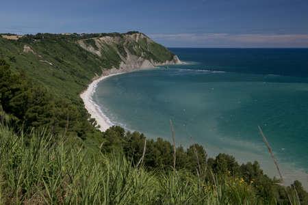 The bay of Portonovo in the Conero Riviera, Italy Фото со стока