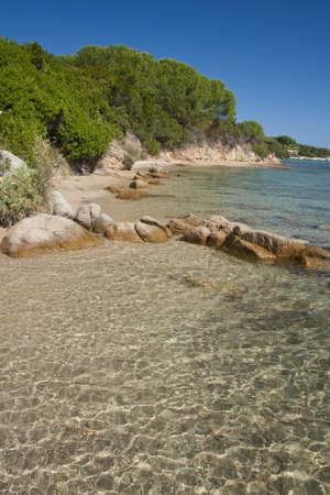 seawater: Transparent seawater in Conca Verde, near Santa Teresa di Gallura in Sardinia