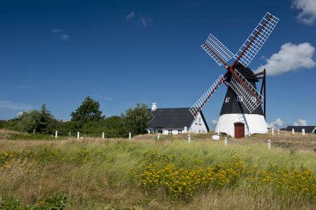 wadden sea: Windmill on the island of Mando, in the Wadden Sea Park of Denmark