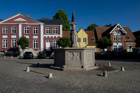Square of Ribe, medieval town, ancient capital of Denmark