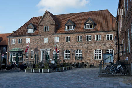 Ancient house of Ribe, medieval town, ancient capital of Denmark Stock Photo