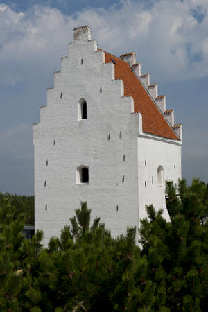 The church in the centre of Skagen, in North Jutland, Denmark Stock Photo
