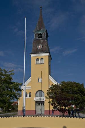 jutland: The church of St Laurenti near Skagen, in North Jutland, Denmark