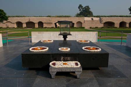 Raj ghat, the memorial of Mahatma Gandhi, in Delhi