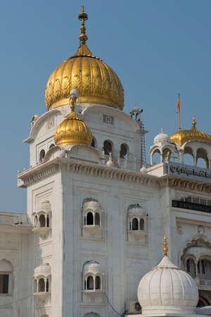 The gurdwara bangla sahib, the most important sikh temple in delhi Stock Photo - 23894738