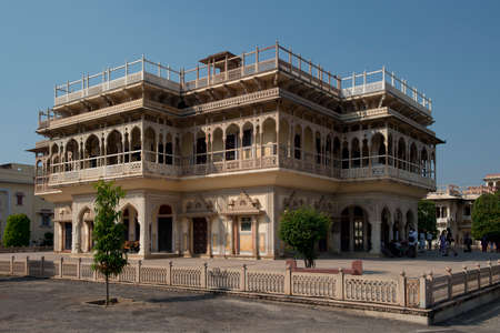 rajput: The City palace complex, in the center of Jaipur, also called the Pink City, in Rajasthan