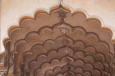 architectural heritage of the world: Arches at the Agra Fort, magnificent fortified palace in  India  This maharajah residence is an  Unesco world heritage site