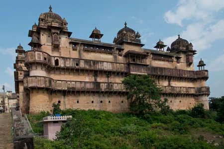 uttar: Jahangir Mahal, important maharaja palace in Orchha, Uttar Pradesh, India Editorial
