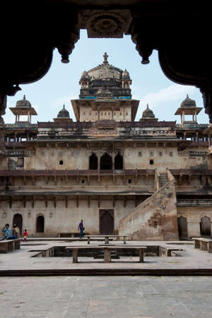 maharaja: Jahangir Mahal, important maharaja palace in Orchha, Uttar Pradesh, India Editorial