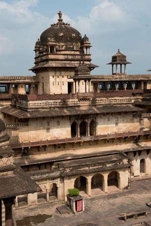 uttar pradesh: Jahangir Mahal, important maharaja palace in Orchha, Uttar Pradesh, India Editorial