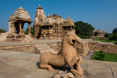 The famous temples of Khajuraho are a large group of medieval hindu and jain temples