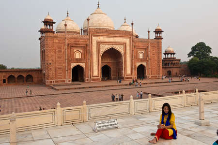 mumtaz: AGRA, INDIA - 23 OCTOBER 2013   The Taj Mahal, mausoleum built by Mughal emperor Shah Jahan in memory of his third wife, Mumtaz Mahal  In 1983 it became an Unesco world heritage site  Editorial