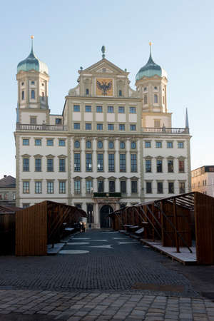 mannerism: The town hall of Augsburg, beautiful mannerism building on the Romantische Strasse in Bavaria