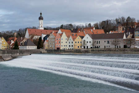 View over  the medieval town of Landsberg am Lech in Bavaria, situated on the Romantische Strasse  photo