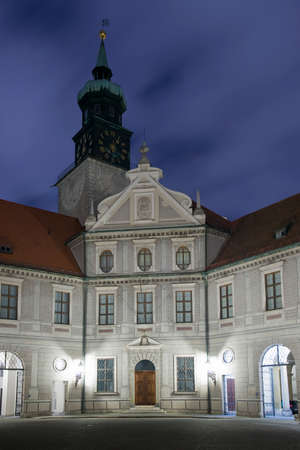 The Residenz,  the royal palace of the Wittelsbach  the bavarian monarchs  Situated in the center of Munich  photo