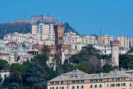 gothic revival style: The Albertis castle in gothic revival style, on the hills of Genoa, Italy