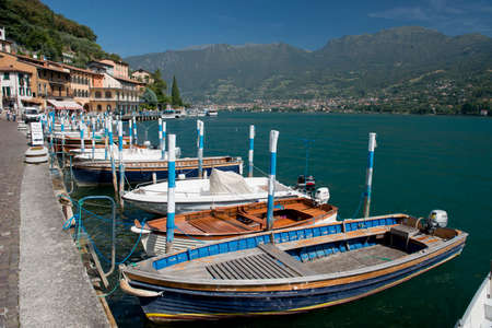 Peschiera Maraglio, village on Montisola, on the Iseo Lake, Italy