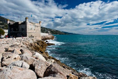 menton: Menton, fishing village situated on the French Riviera, on the border with Italy  Editorial