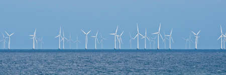 Wind farm on the Baltic Sea in Denmark photo