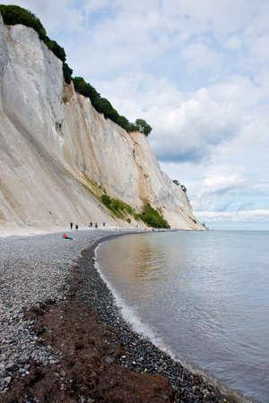 The white cliffs of Mons Klint in Denmark