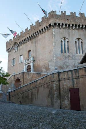 haut: The medieval castle of Haut de Cagnes in Cote d