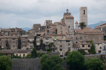 vence: View over the historical village of Saint Paul de  Vence, situated in Cote d Stock Photo