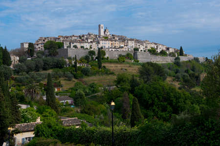View over the historical village of Saint Paul de  Vence, situated in Cote d Stock Photo