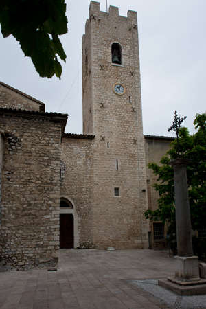 vence: Stone bell tower of the medieval village of Vence in Cote d