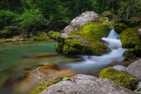 Alpine river in Valle Pesio, Piedmont photo