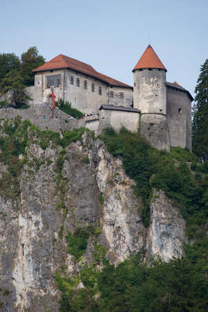 Medieval castle overlooking the Bled Lake situated in Slovenia. One of the picturesque sites of the nation.