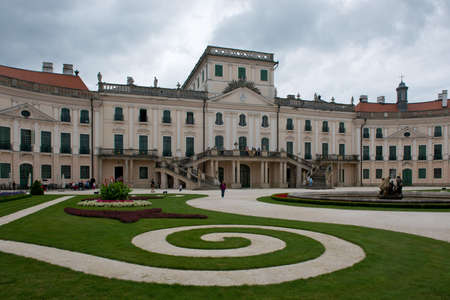 The Rococo Castle of Esterhazy situated in Fertod, also called the Hungarian Versailles