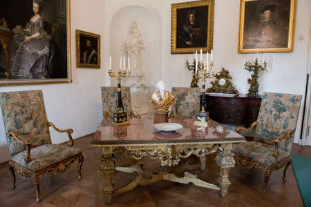 Room of the Esterhazy castle situated in Fertod, Hungary