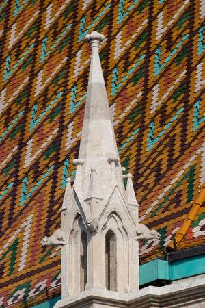 matthias church: The gothical Matthias church, in the Buda district  near the Fisherman