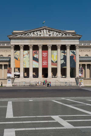 The neoclassical building of the museum of fine arts, situated in heroes