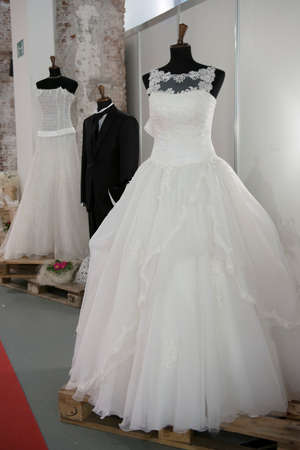 bridal gown: Mannequin with bridal gown for the wedding day