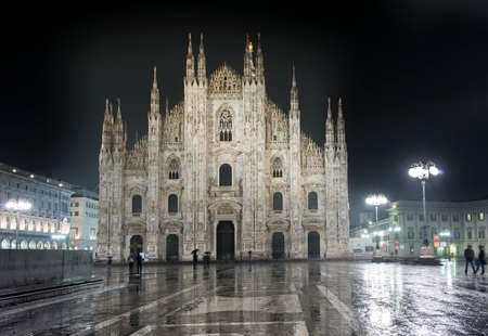 The Duomo di Milano, cathedral dedicated to Saint Mary of the Nativity, symbol of Milan.
